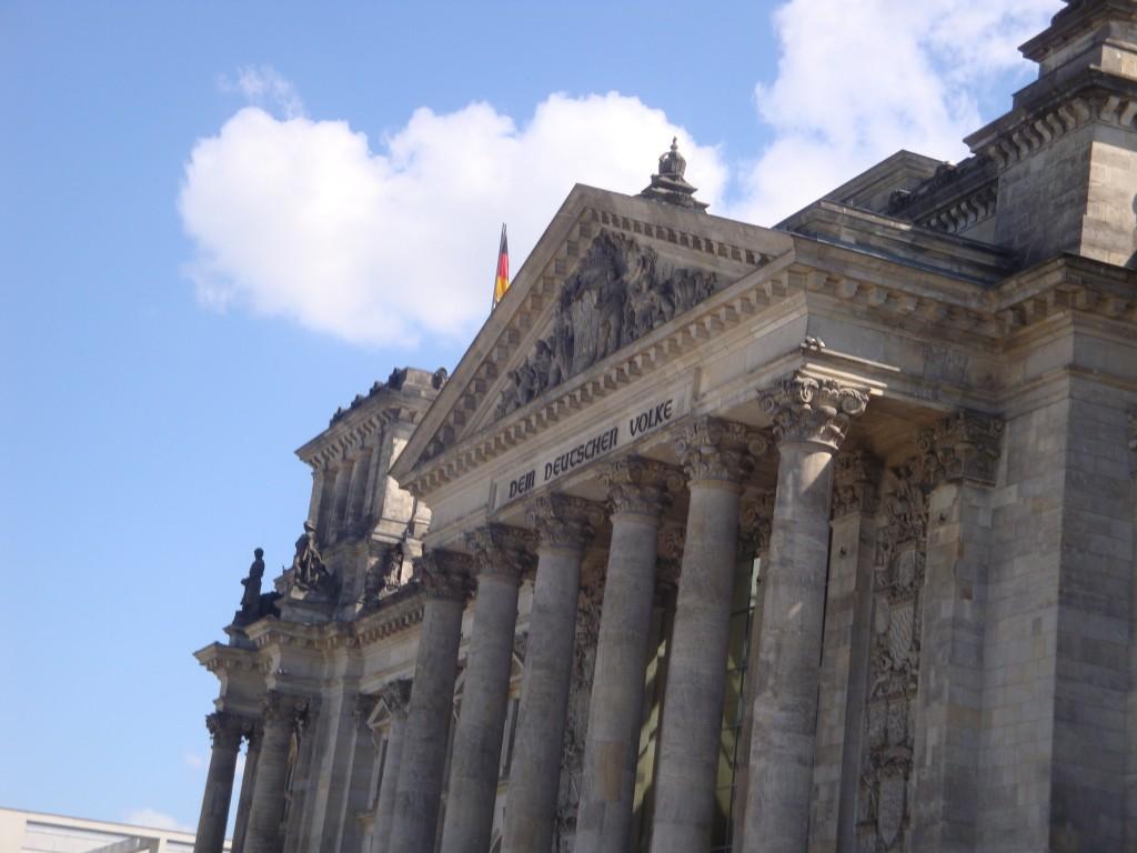 Berlin mit dem deutschen Bundestag