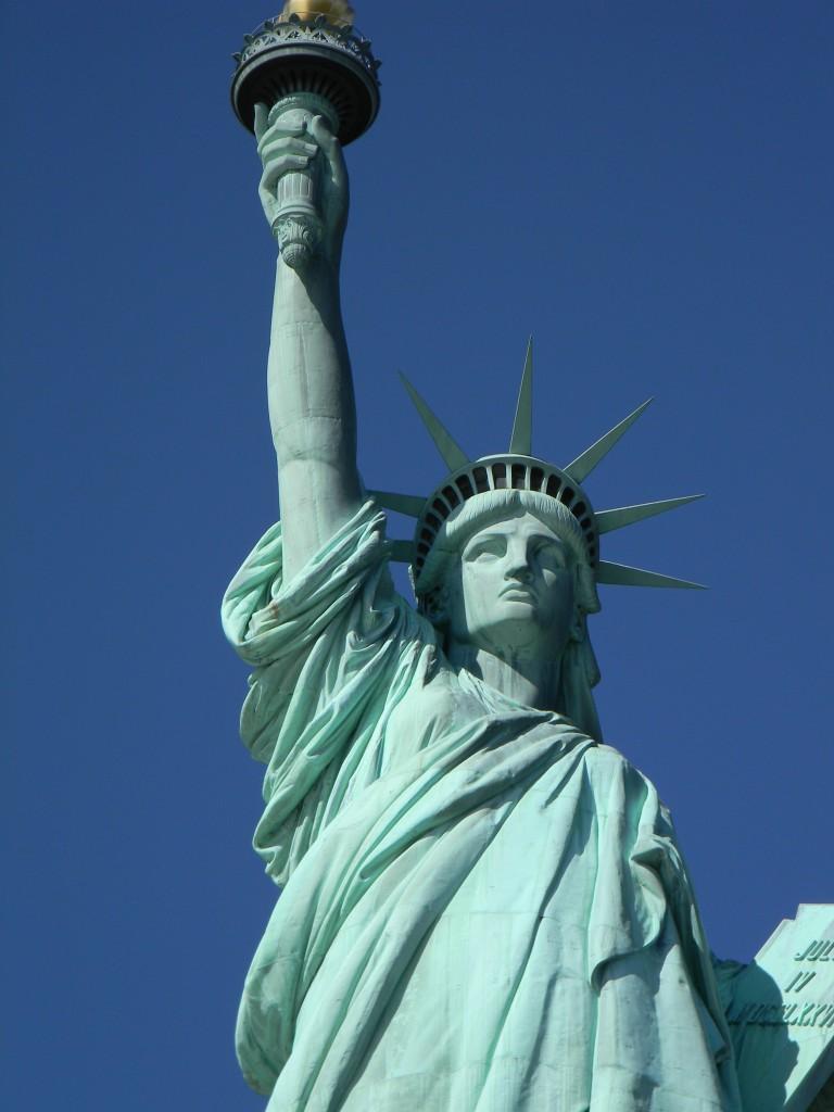 Die Freiheitsstatue in New York auf Liberty Island