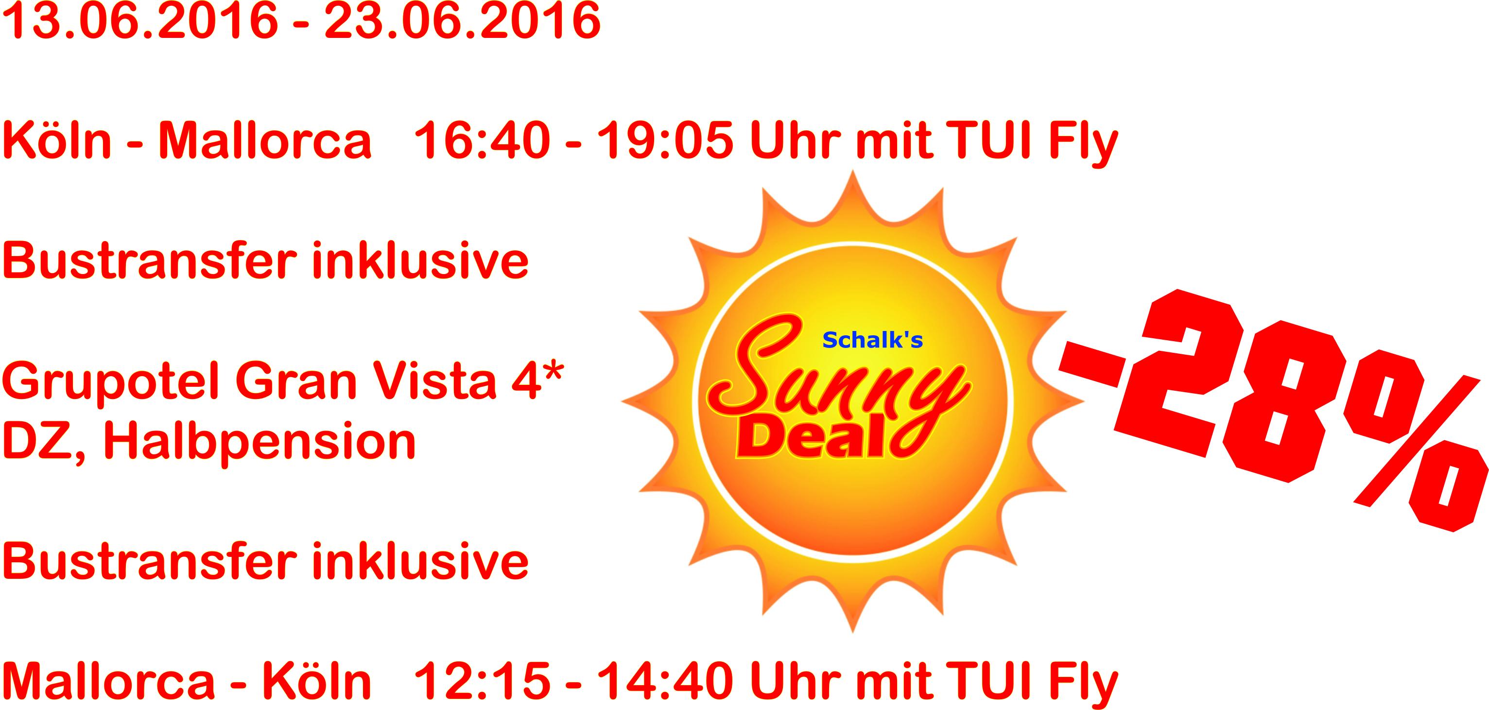 Sunny Deal Angebot aktuell mallorca
